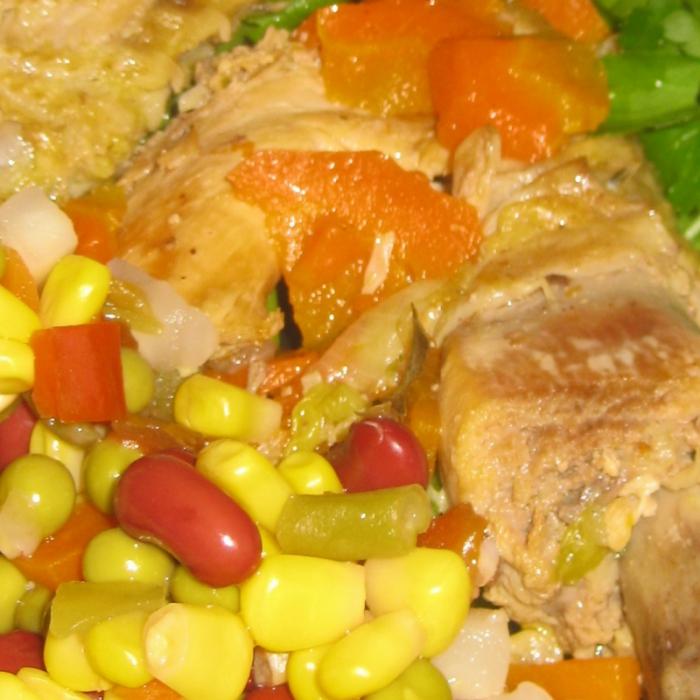 Деревенский петушок с овощами Bonduelle