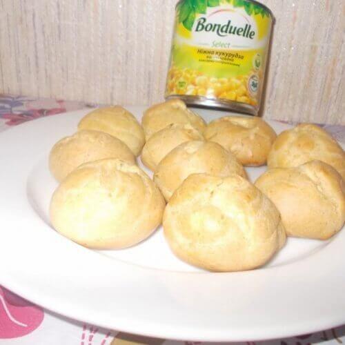 Картофельные эклеры с кукурузным кремом