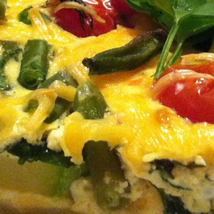 """Прованский овощной киш с сыром и спаржевой фасолью """"Бондюэль"""""""