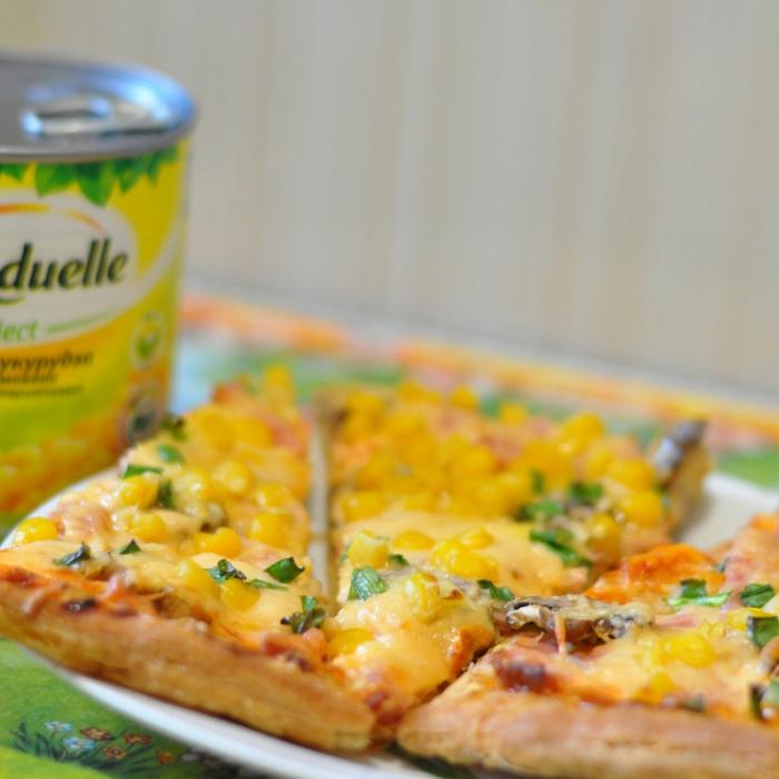 Воздушная пицца с Bonduelle