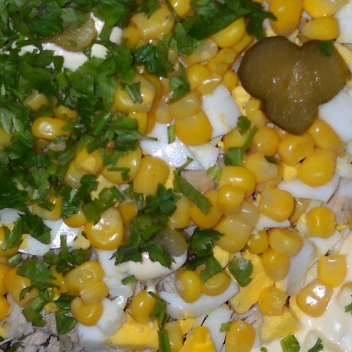Салат с топинамбуром и куриным филе