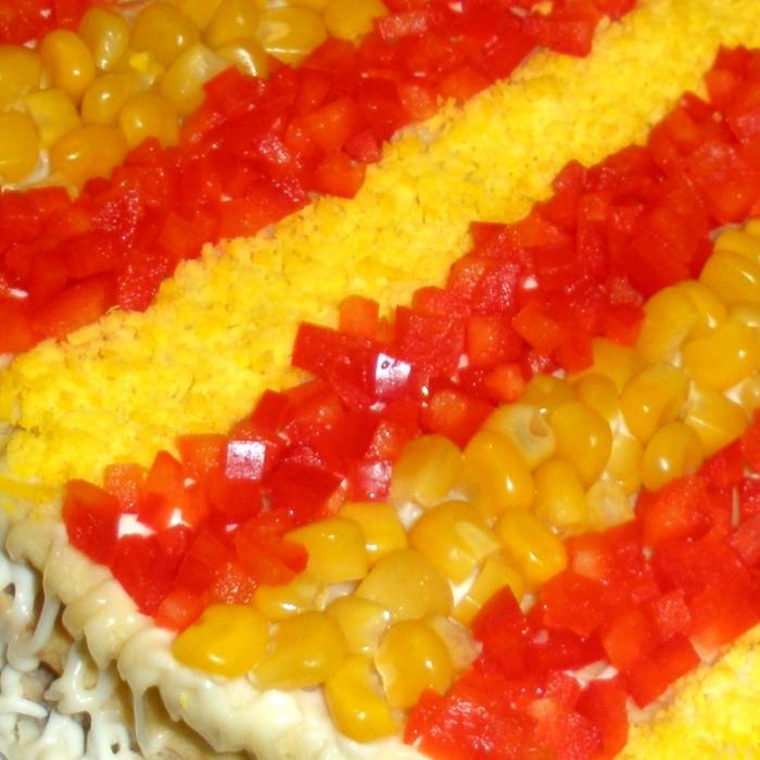 """Овощной торт """"Урожайные поля Бондюэль"""""""