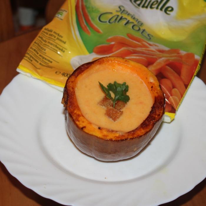 Тыквенно-морковный крем-суп
