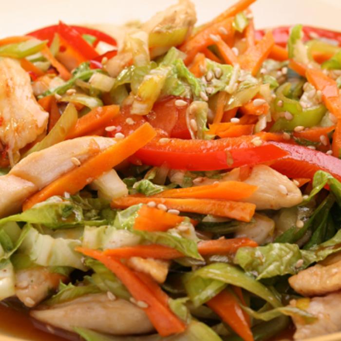 Вьетнамский салат из цыпленка