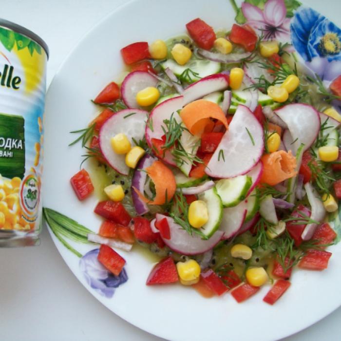 Салат «Овощи на подушке»