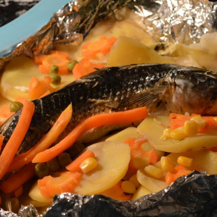 Пеленгас на овощной подушке