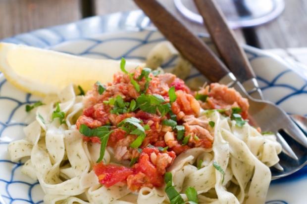 Шпаргалка: томатний соус та грибна паста