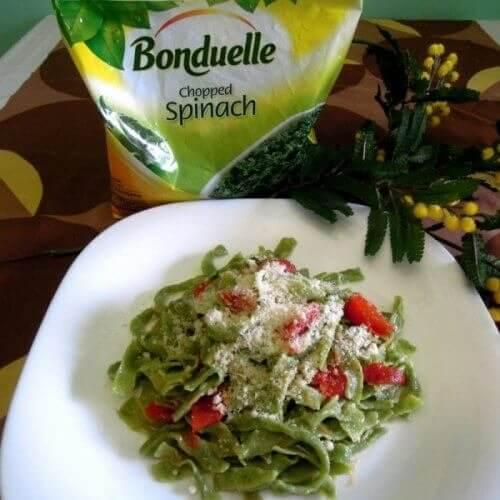 Тальятеллі з шпинатом Бондюель