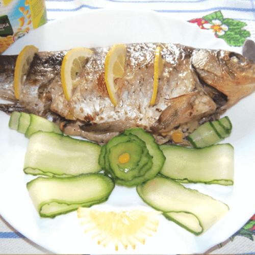 Короп, запечений з печерицями та кукурудзою Bonduelle