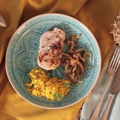Свинина з мексиканським соусом