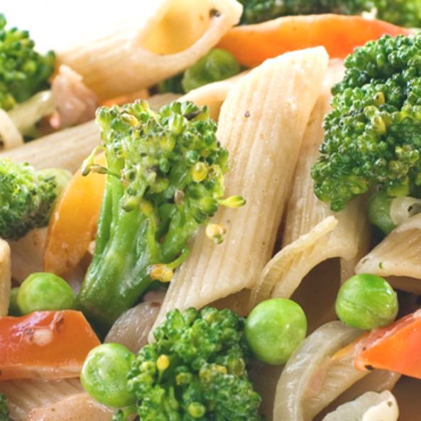 Паста пенне з овочами