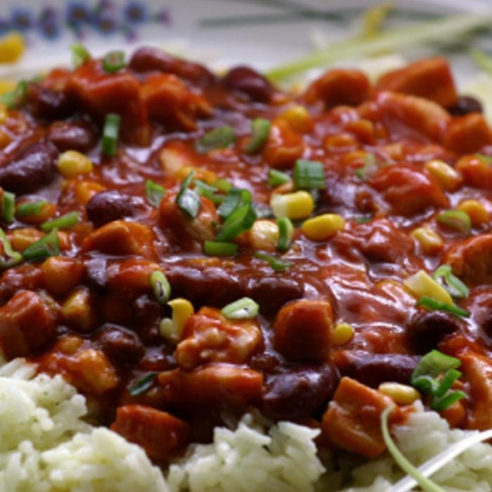 Рис із квасолею по-карибськи