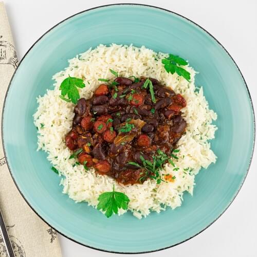 Рис з червоною квасолею в соусі