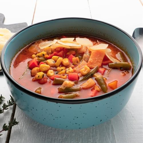 Суп мінестроне з гарбузом